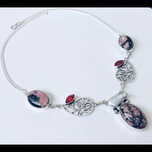 Jewelry - 🎀🎈RHODOCHROSITE SILVER NECKLACE🛍💗